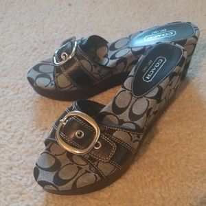 """Coach 3"""" Wedge Sandals, Size 9"""